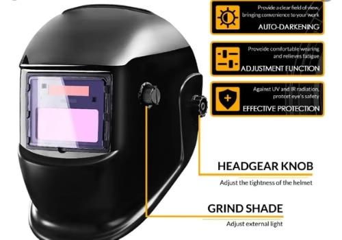 adjust auto darkening welding helmet