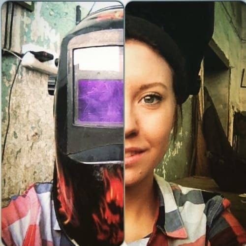 The-Russian-Welding-Girl